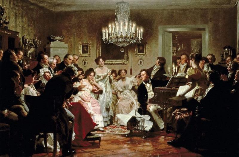 Schubertiade schilder Julius_Schmid